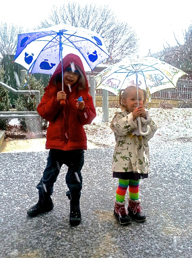 Slushy Snow + Kids = Cute!