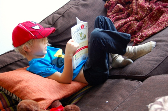 """""""Earning  Screen Time"""" (also known as """"reading."""")"""