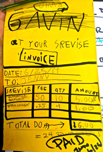 Olivia's Invoice