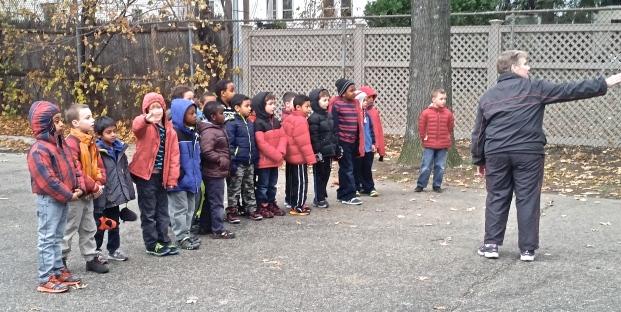 First Grade Boys line up