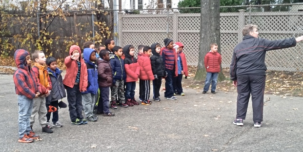 First Grade Boys line up