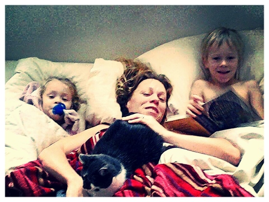 """""""Three Blonde Babes in a Bed"""""""
