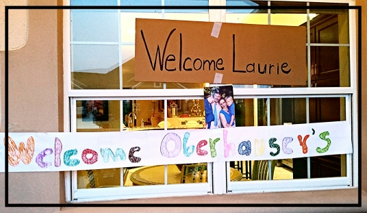 Welcome Laurie & Oberhausers!