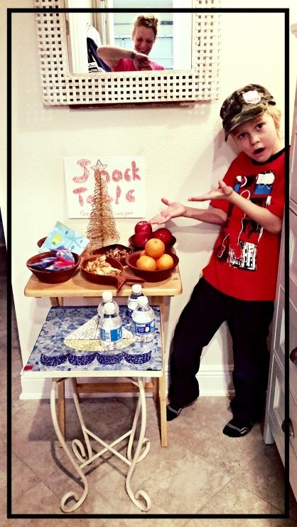 Custom Kids Snack Table Included, c/o Loving Grandma