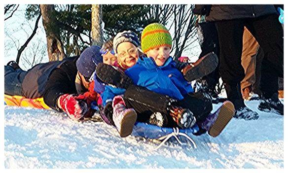 Snow Sled Kids