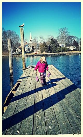 Dock Clomping Girl