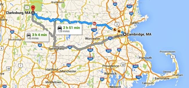 Cambridge to Clarksburg