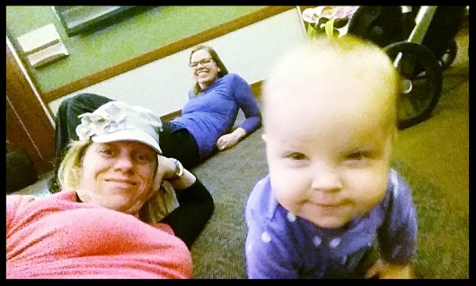 Amanda, Mary & I hang out during Mom's surgery & Post-Op