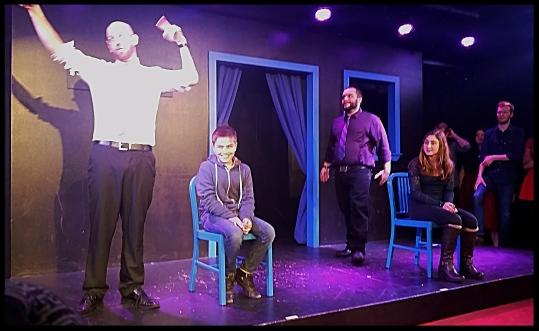 Zachary on Stage at Boston Improv