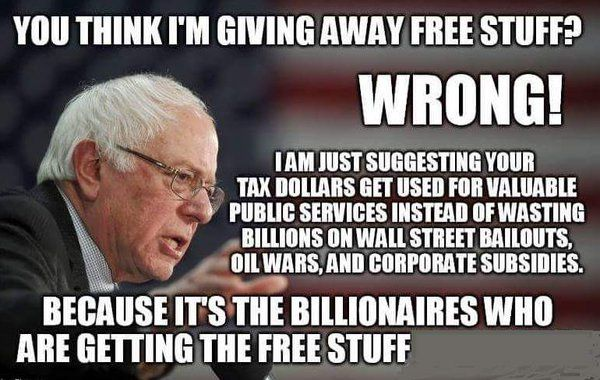 not free stuff... billionaires