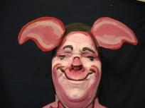 pig man face