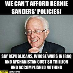 we can't afford bernie sanders
