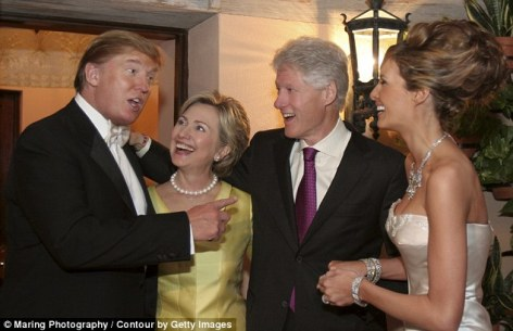 hillary trump wedding