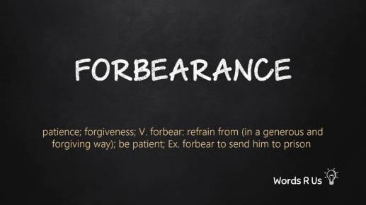 forbearance patience
