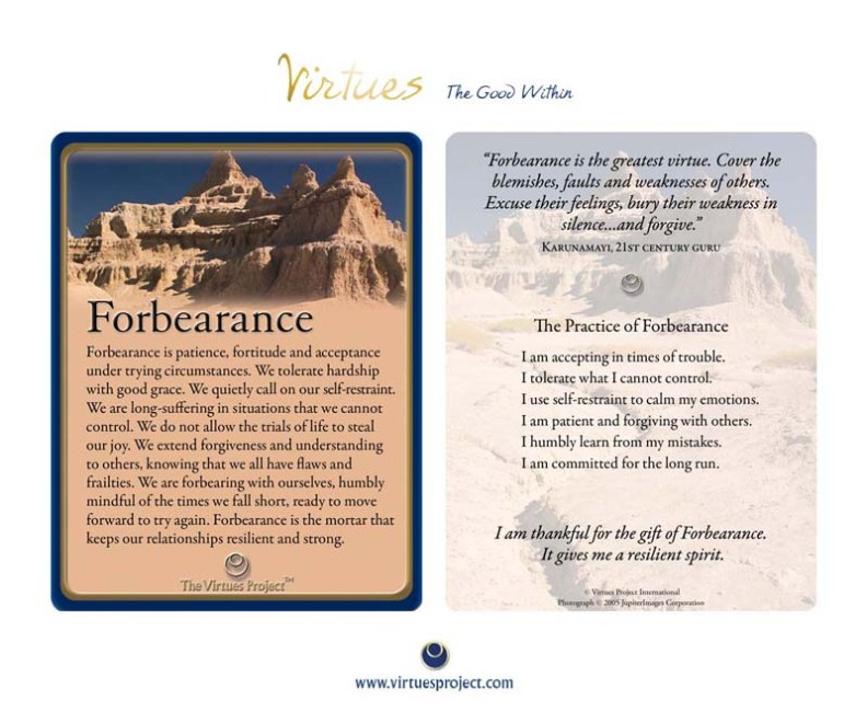 forbearance virtues
