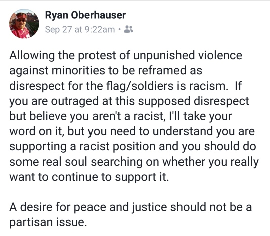 Ryan re knee protests