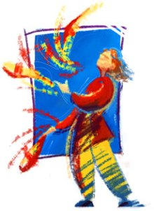 Juggling artist image juggler_paint_full