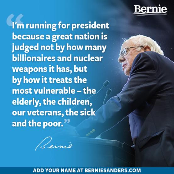 Bernie because the meek