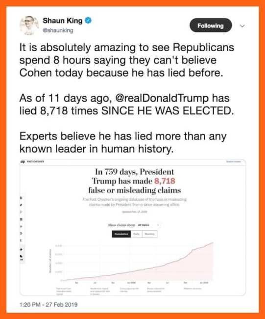 tRump lying liar who lies