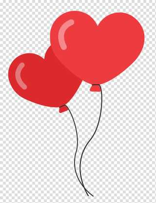 del two heart balloons