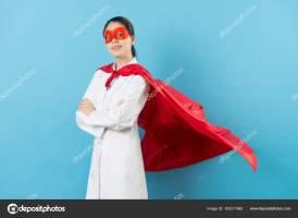 elegant hospital female doctor dress up superhero